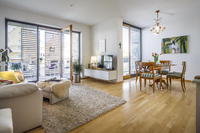 Stilvolle, lichtdurchflutete 2-Zimmer-Wohnung mit Blick auf die Isar