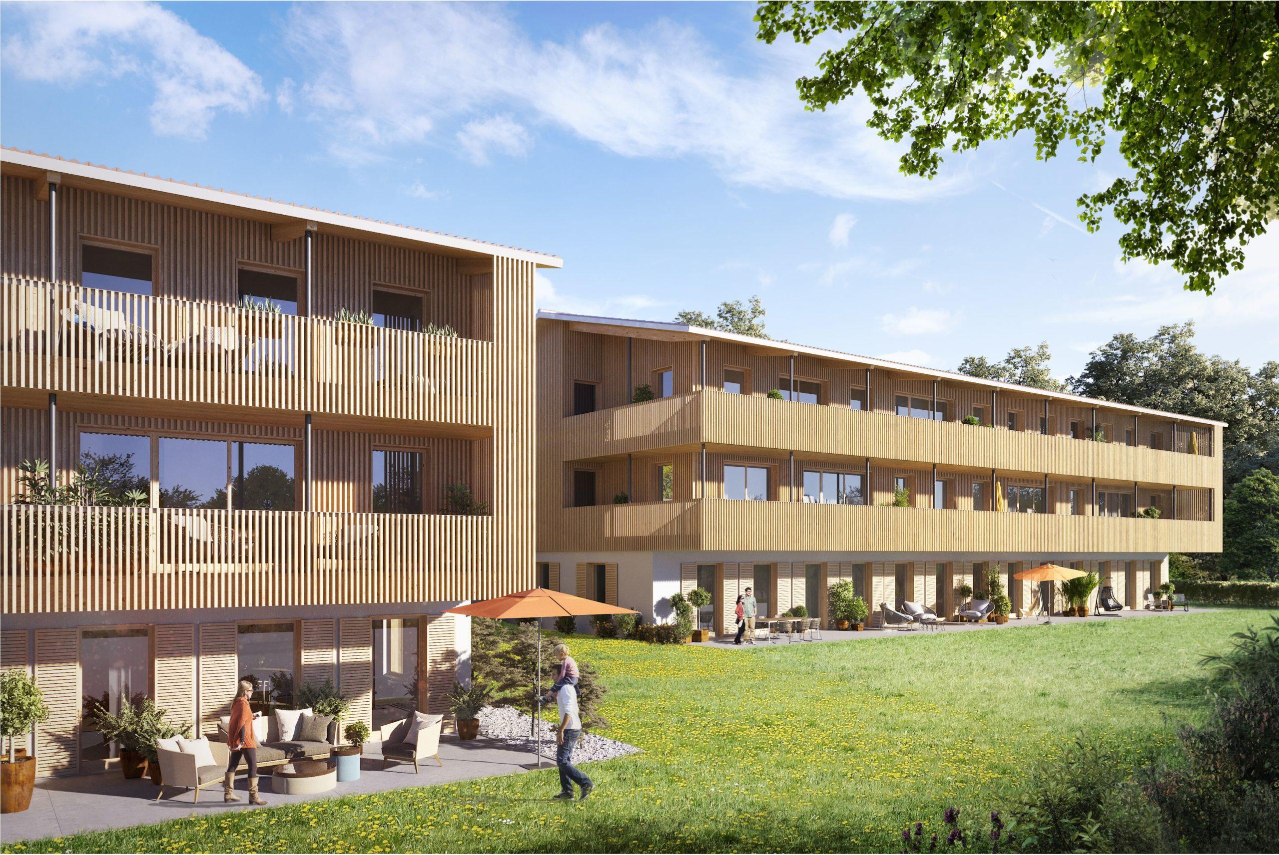 Schöne 2-Zi.-Wohnung mit Terrasse, EBK, Carport – Erstbezug